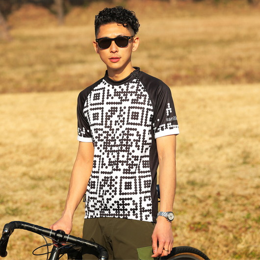 Cycle jersey Split (dot QR)