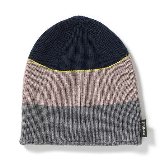Color panel washable river knit cap