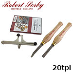 Robert Sorby 89HS20 ねじ切りキット 20tpi