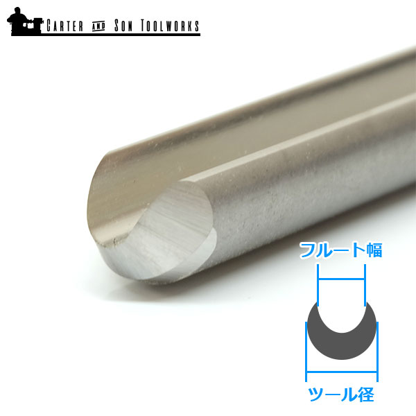 "Carter & Son Toolworks 5/8"" ボウルガウジ (ハンドルなし)"