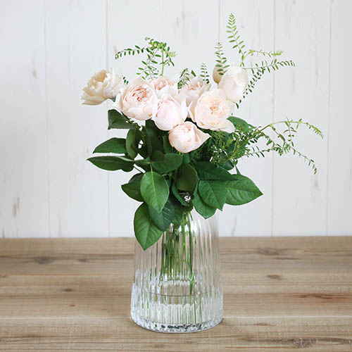 【LSA(エルエスエー)】PLEAT VASE CLEAR H20