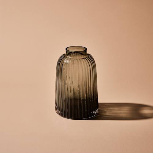 【LSA(エルエスエー)】PLEAT VASE GREY H20