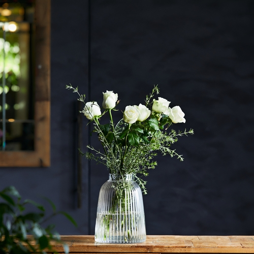 【LSA(エルエスエー)】PLEAT VASE CLEAR H26