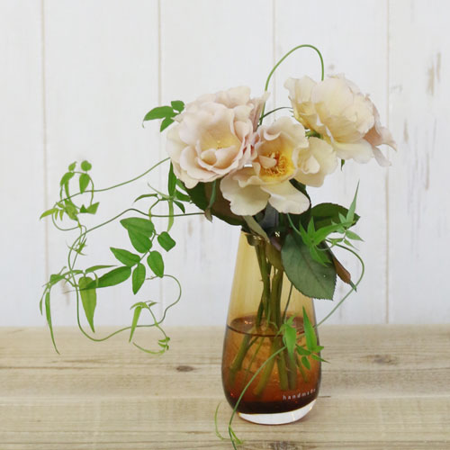 【LSA(エルエスエー)】FLOWER COLOUR BUD VASE AMBER