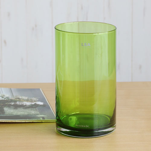 【LSA(エルエスエー)】FLOWER COLOUR CYLINDER VASE (lime)