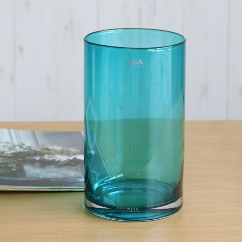 【LSA(エルエスエー)】FLOWER COLOUR CYLINDER VASE (peacock)