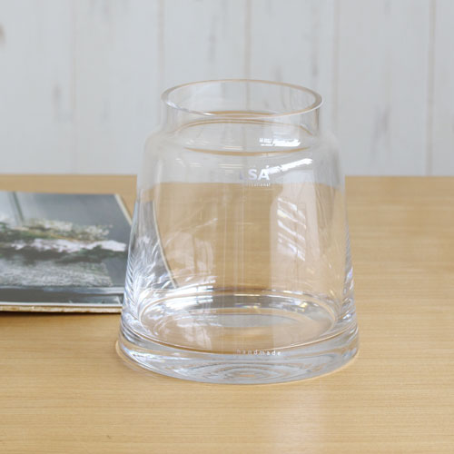 【LSA】CHIMNEY VASE (clear) H175