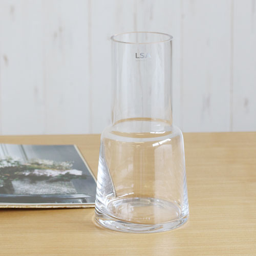 【LSA】CHIMNEY VASE (clear) H250