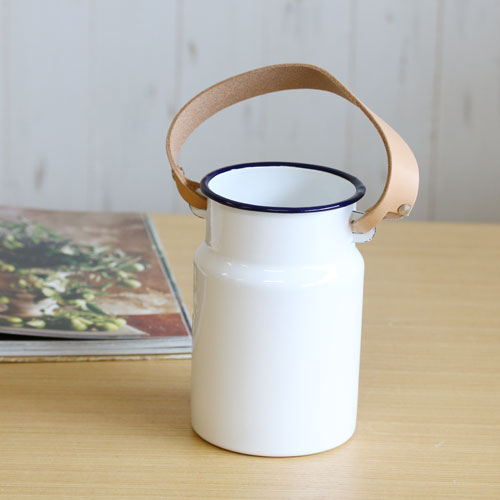【LSA(エルエスエー)】UTILITY UTENSIL POT & LEATHER HANDLE (milk white)