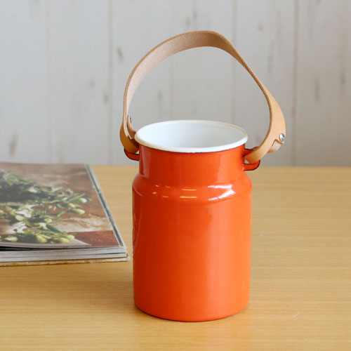 【LSA(エルエスエー)】UTILITY UTENSIL POT & LEATHER HANDLE (pumpkin orange)
