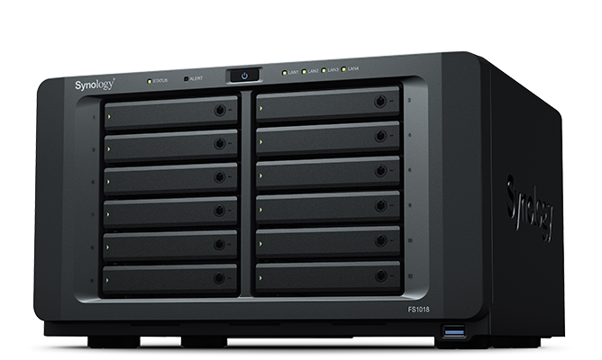 新品 Synology Flash Station FS1018 SSD 7.68TB 12本搭載済み 80TBオーバーNAS