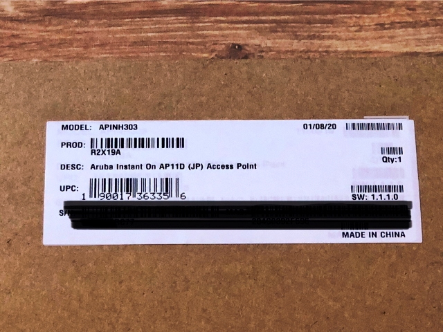 【在庫限定特価】HPE R2X19A HPE Aruba Instant On AP11D (JP) 2x2 11ac Wave2 Desk/Wall Access Point 【50台セット】