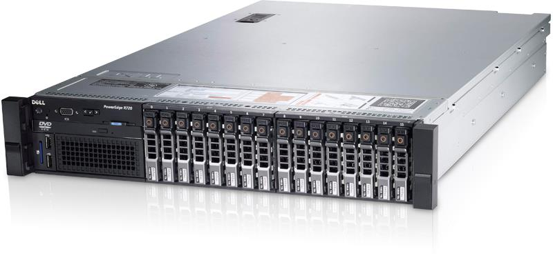 中古 DELL PowerEdge R720 2.5x16 E5-2690x2CPU
