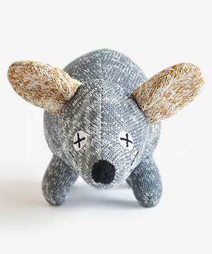 FAD 【数量限定品】アニマル・プラッシュトイ・マウス・グレイ【2020年干支ねずみのおもちゃ】