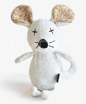FAD 【数量限定品】アニマル・プラッシュトイ・マウス・ホワイト【2020年干支ねずみのおもちゃ】