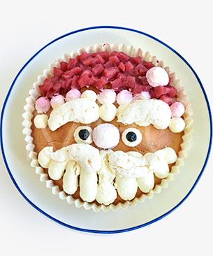 POCHI DELICATESSEN 【季節限定品】 サンタのデコレーションケーキ 160g ◆クール便(冷凍)◆