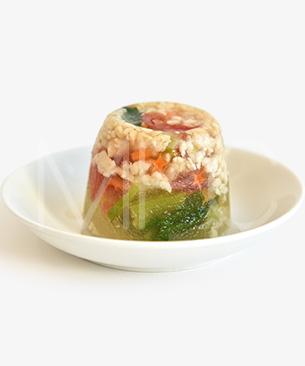 POCHI DELICATESSEN 【季節限定品】 鶏肉と彩り野菜のゼリーよせ ◆クール便(冷凍)◆