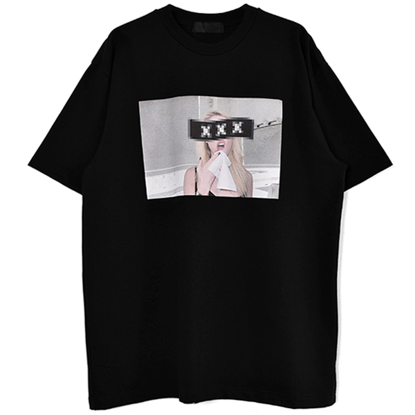 T-SHIRT/BLACK(GX-A21-ST-14)