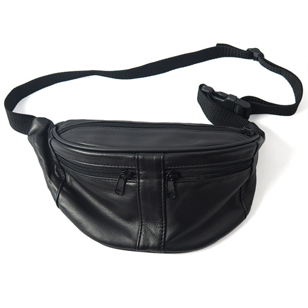 Leather Waist Pouch/BLACK