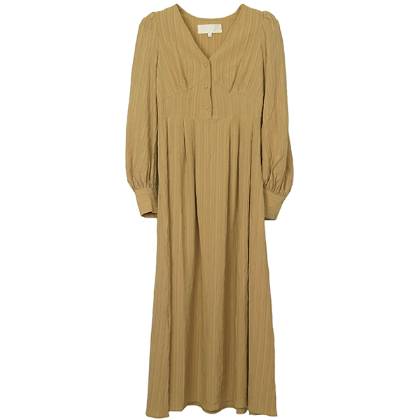 Crape Geogette Dress/BEIGE