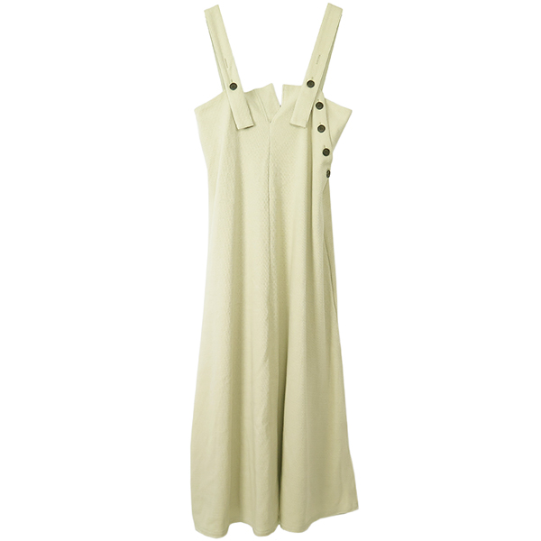Thermal Salopette Dress/GRAY BEIGE