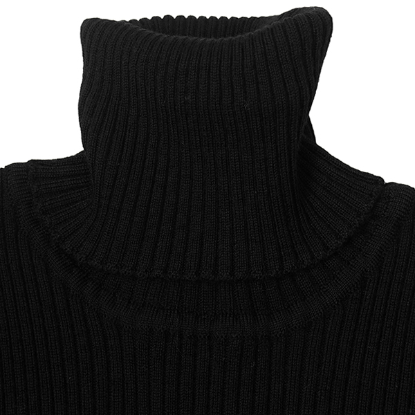 Merinowool Turtle Knit/BLACK