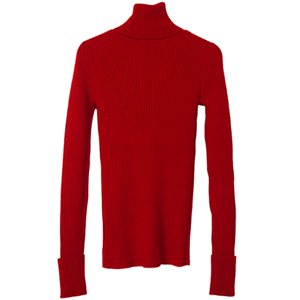 Merinowool Turtle Knit/RED