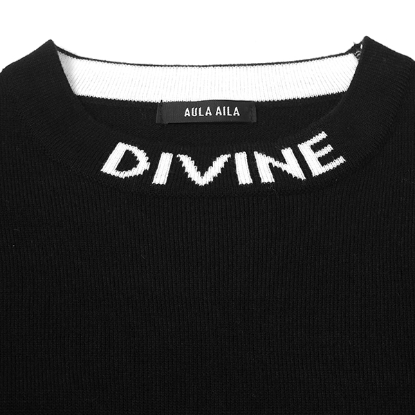 LOGO NECK KNIT/BLACK