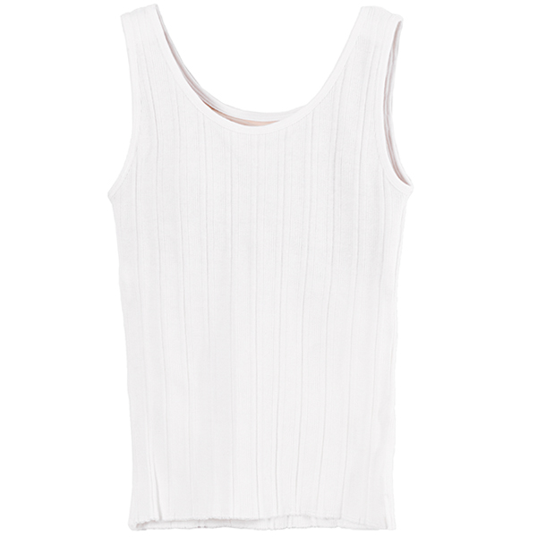 Cup-in Rib Tanktop/WHITE