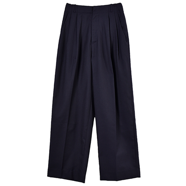 Doubletuck Wide Pants/NAVY