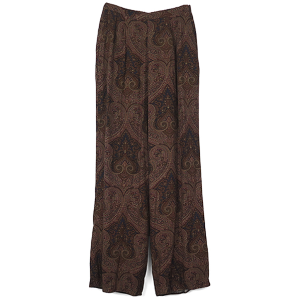 Paisley Rough Pants/BROWN
