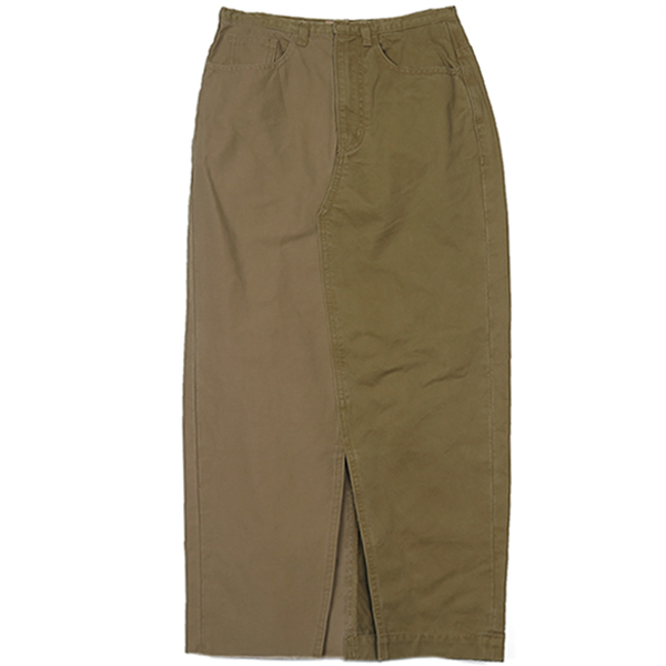 Asymmetry Chino Skirt/BEIGE