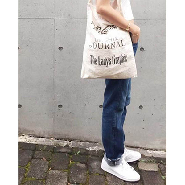 Vintage Tote Bag/O.WHITE