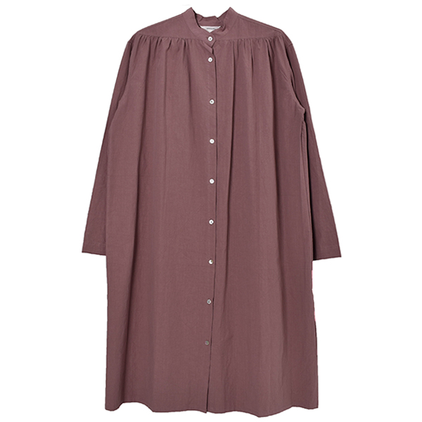 Gather Shirts Dress/DUSTY PINK