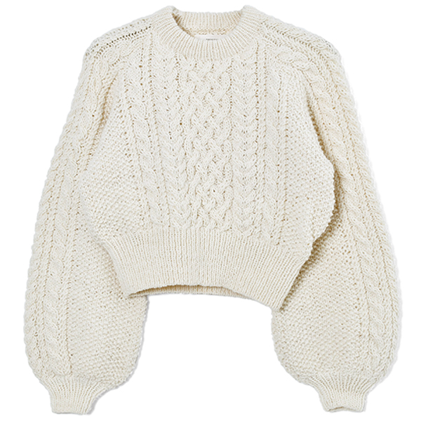 Cable Wool Knit/ECRU