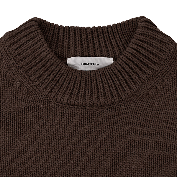 Roundhem Heavy Knit/BROWN