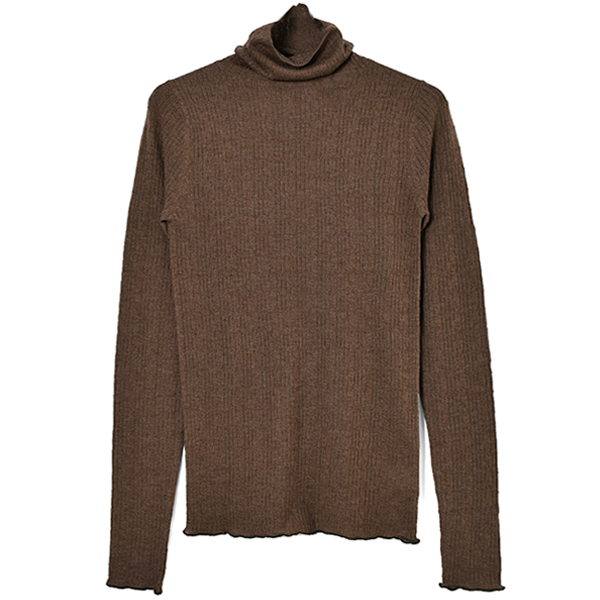 Jacquard Turtle Knit/BROWN