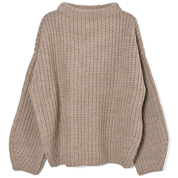 Oversize Braid Knit/BEIGE