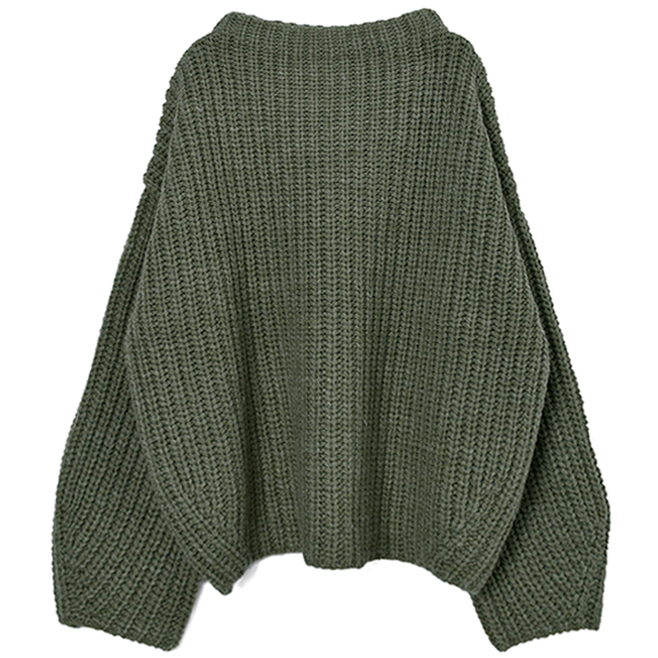 Oversize Braid Knit/PISTACHIO