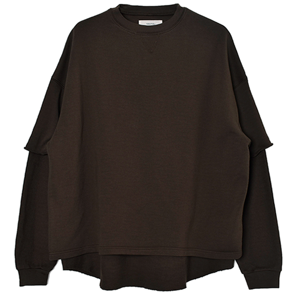 Layered Cotton Sweat/CHOCOLATE