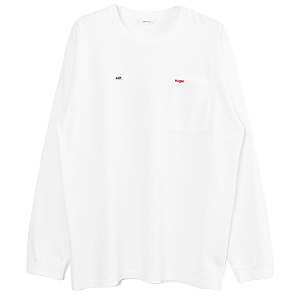 Salt&Sugar Long T-shirts/WHITE
