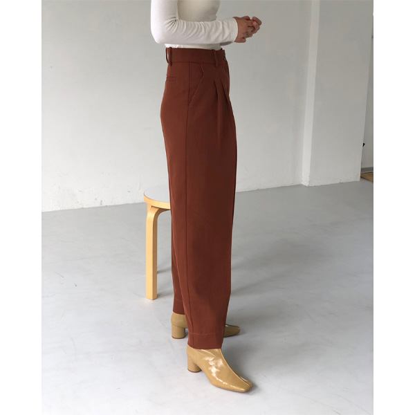 Twill Tuck Trousers/TERRACOTTA