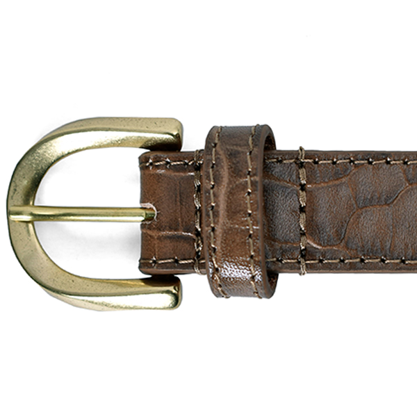 Crocodile Leather Belt/BEIGE