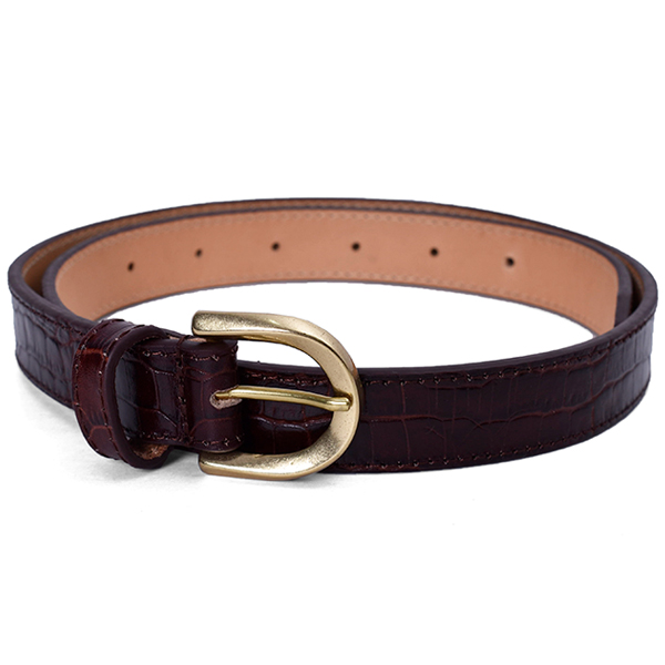 Crocodile Leather Belt/CHO