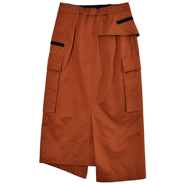 POCKET STRAIGHT SKIRT/ORANGE