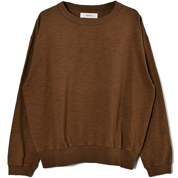 Slub Cotton Long T-Shirts/CAMEL