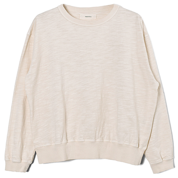 Slub Cotton Long T-Shirts/ECRU