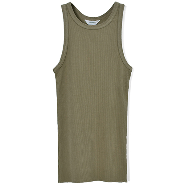 Rib Cotton Tanktop/OLIVE