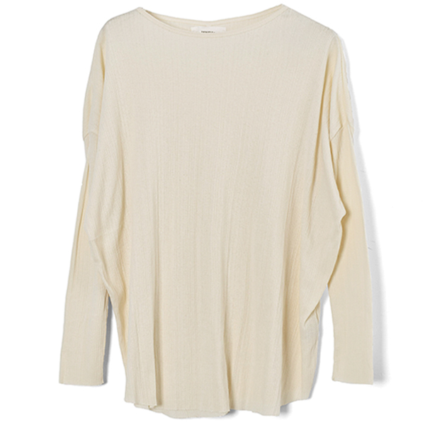 Randomrib Over Long T-Shirts/ECRU
