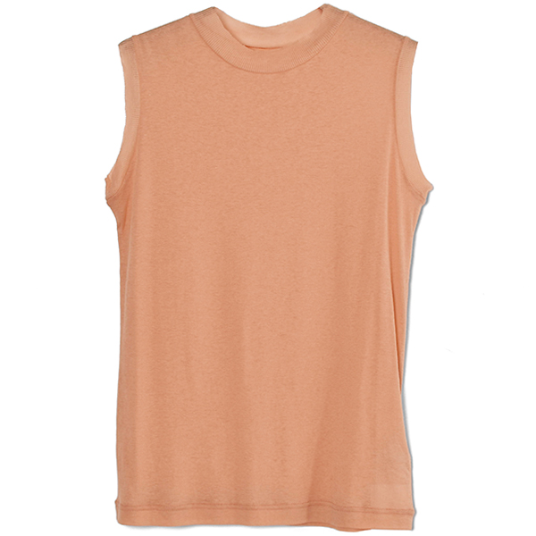 Box Sheer Tanktop/ORANGE